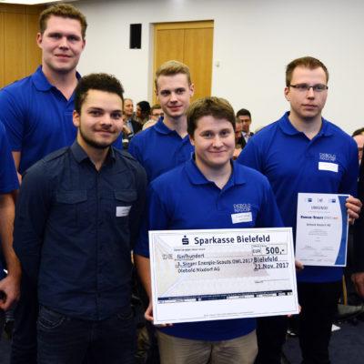 Platz 3: Das Team von der Diebold Nixdorf AG